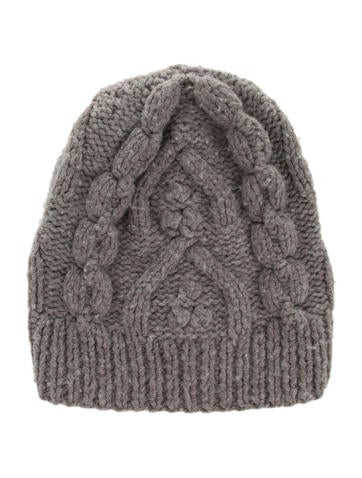 Maison Margiela Wool Cable Knit Beanie None