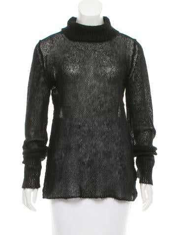 Maison Margiela Mohair Open Knit Sweater None