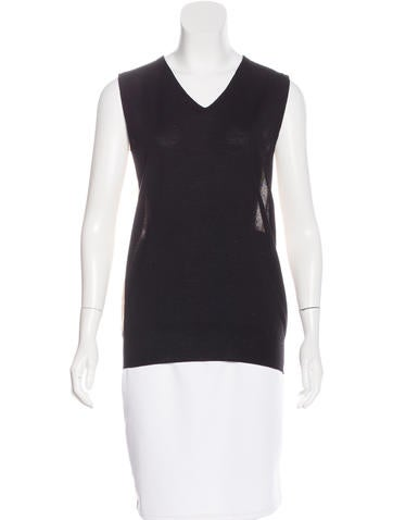 Maison Margiela Wool Sleeveless Top None