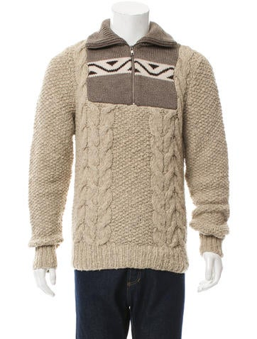 Maison Margiela Wool Half-Zip Sweater None