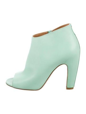 Peep-Toe Ankle Boots