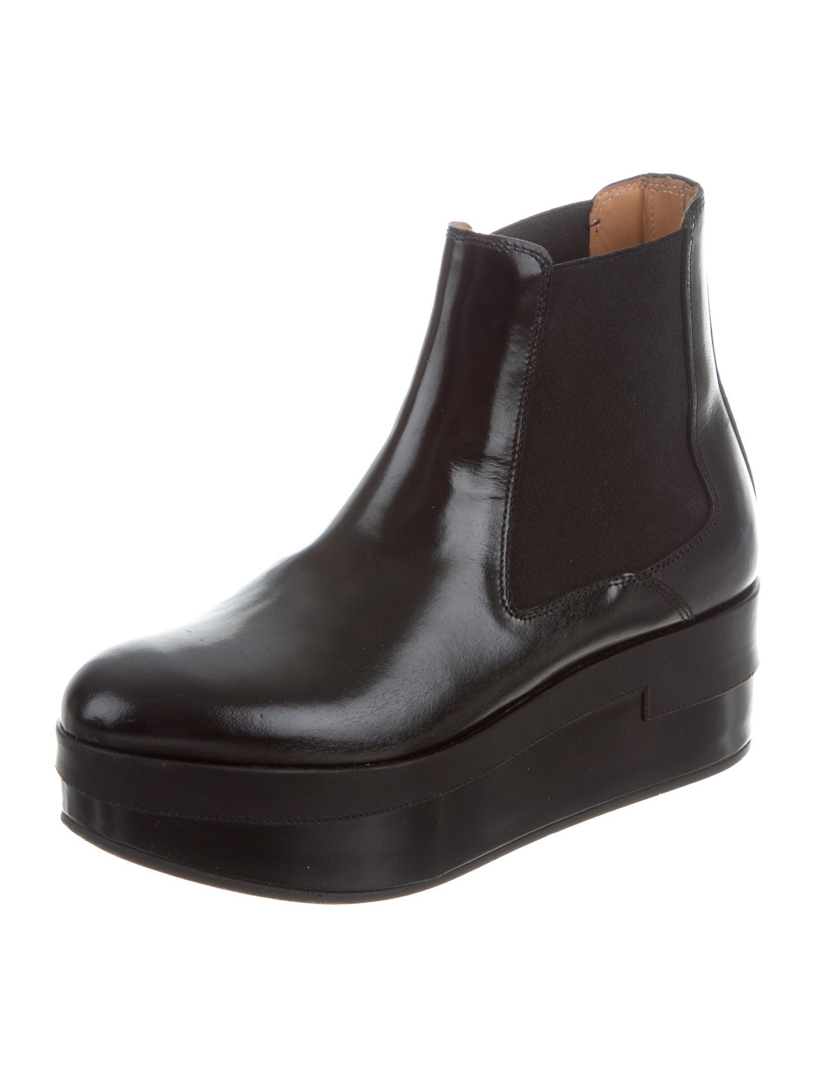 maison margiela leather platform boots shoes mai28561