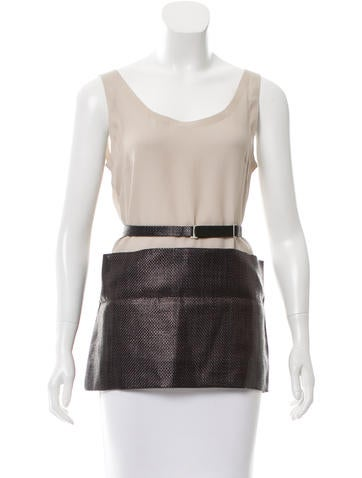 Maison Margiela Silk Belted Top w/ Tags None