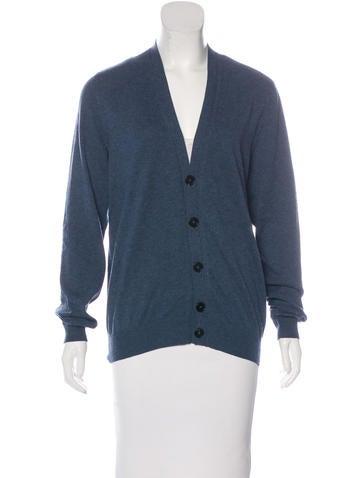 Maison Margiela Wool-Blend Long Sleeve Cardigan None