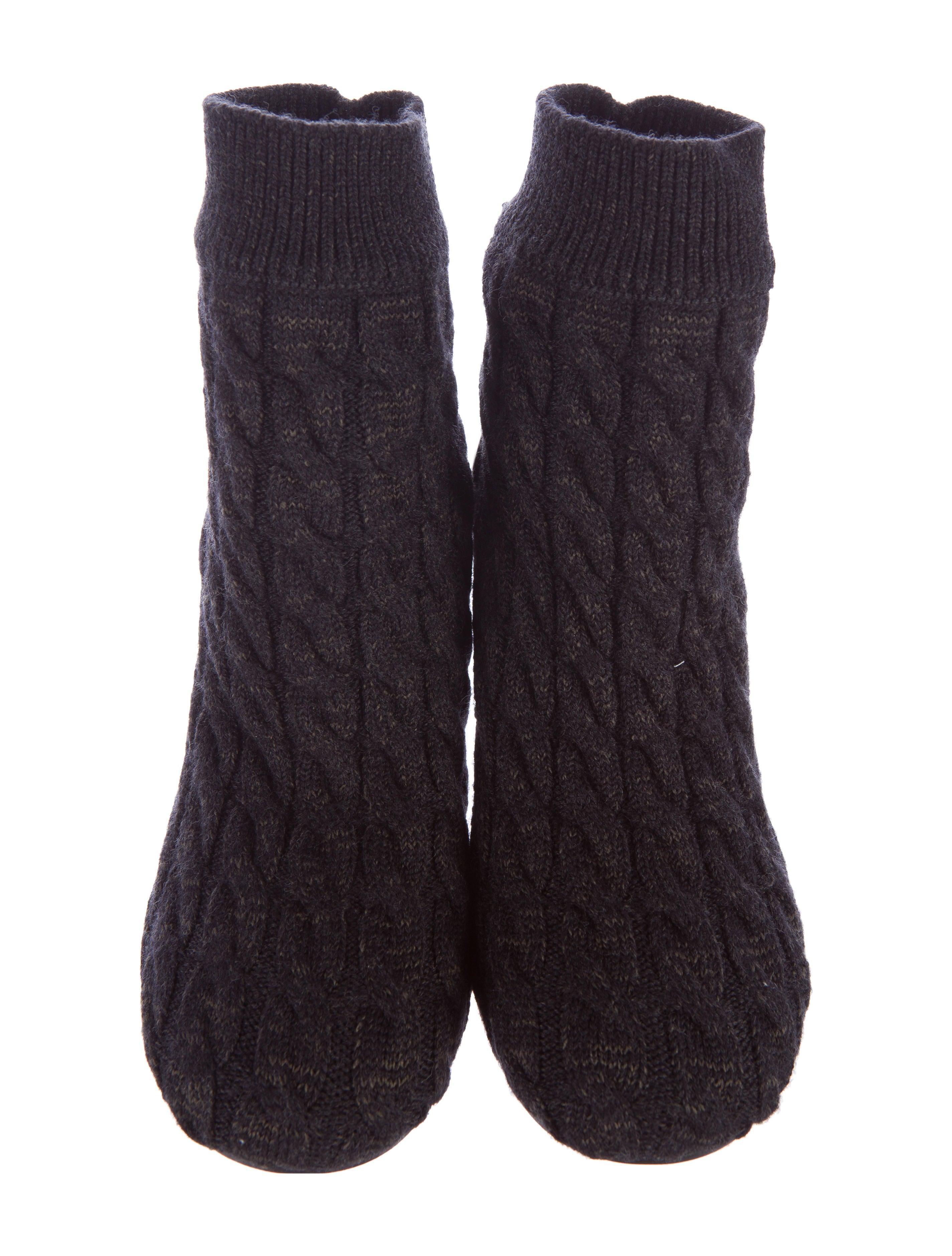 maison margiela cable knit sock ankle boots shoes