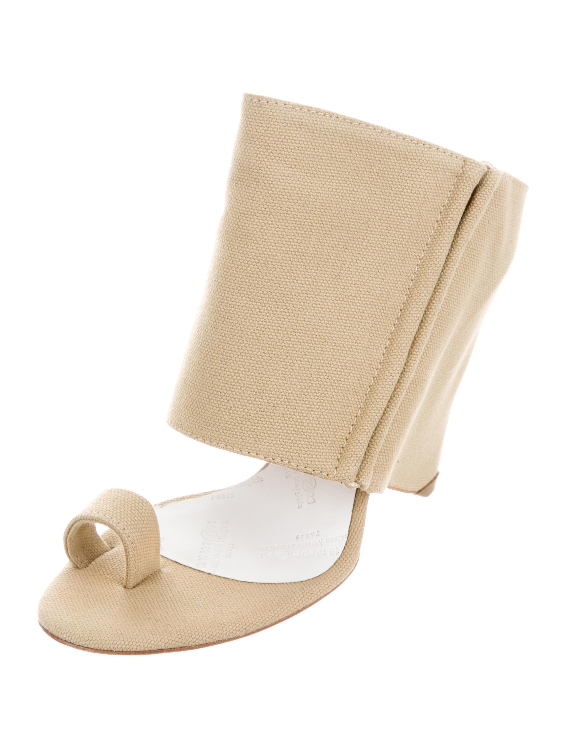 maison margiela canvas wedge sandals w tags shoes