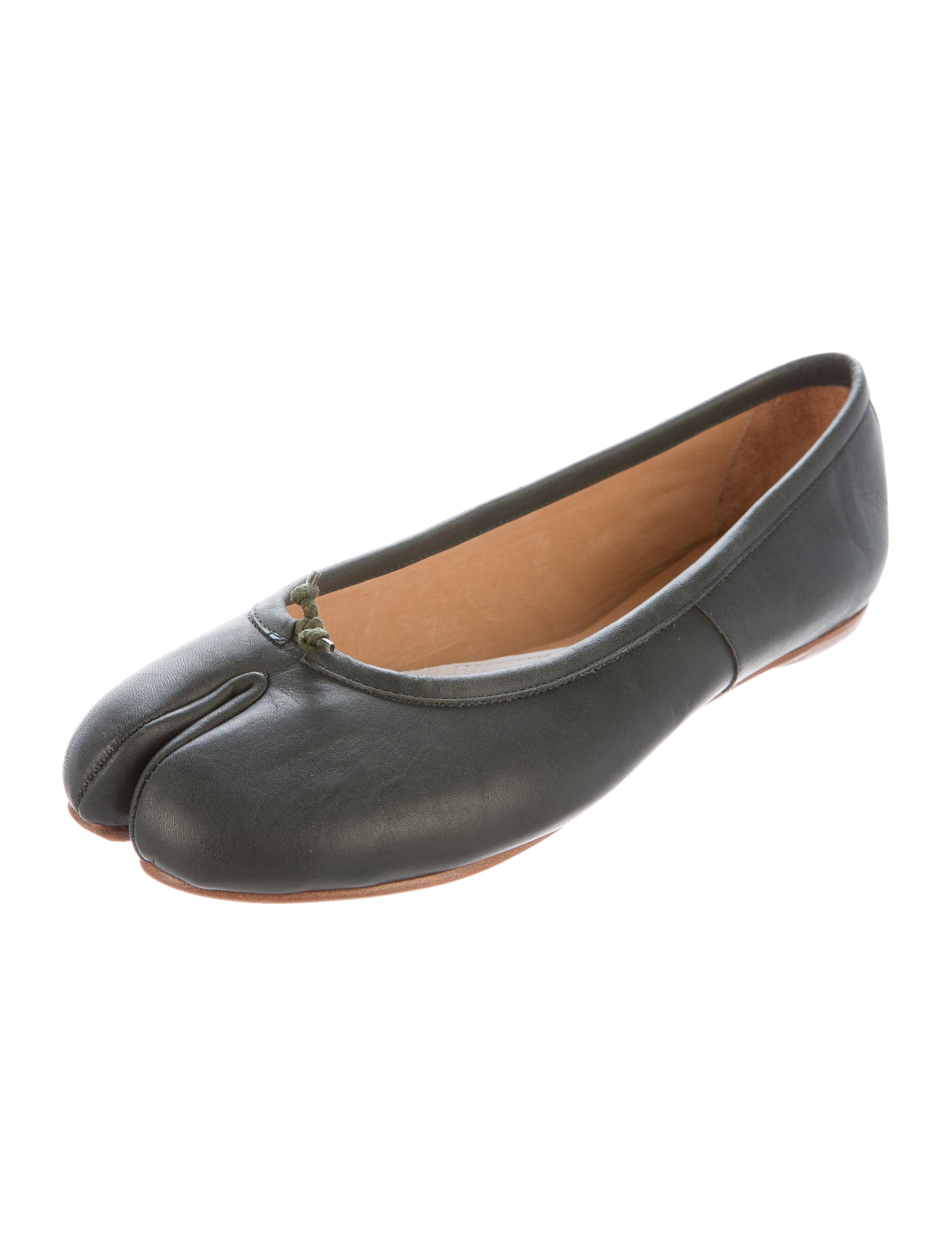 maison margiela tabi leather flats shoes mai28697