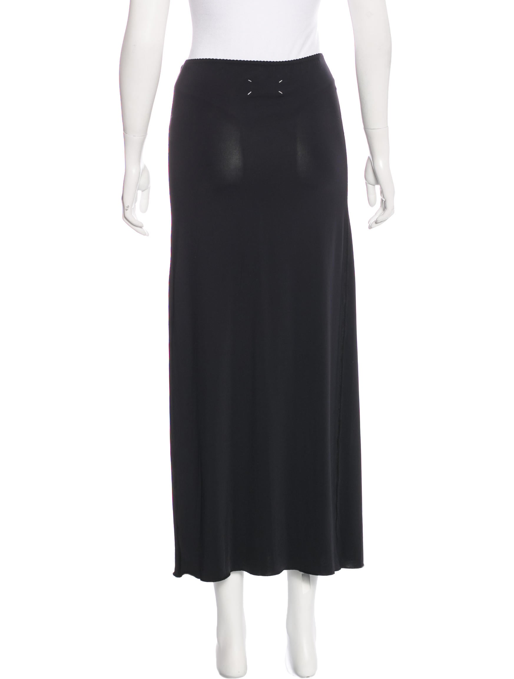 maison margiela fitted midi skirt w tags clothing
