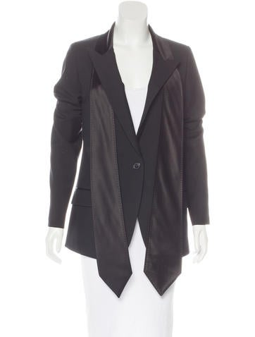 Maison Margiela Virgin Wool Button-Up Blazer None