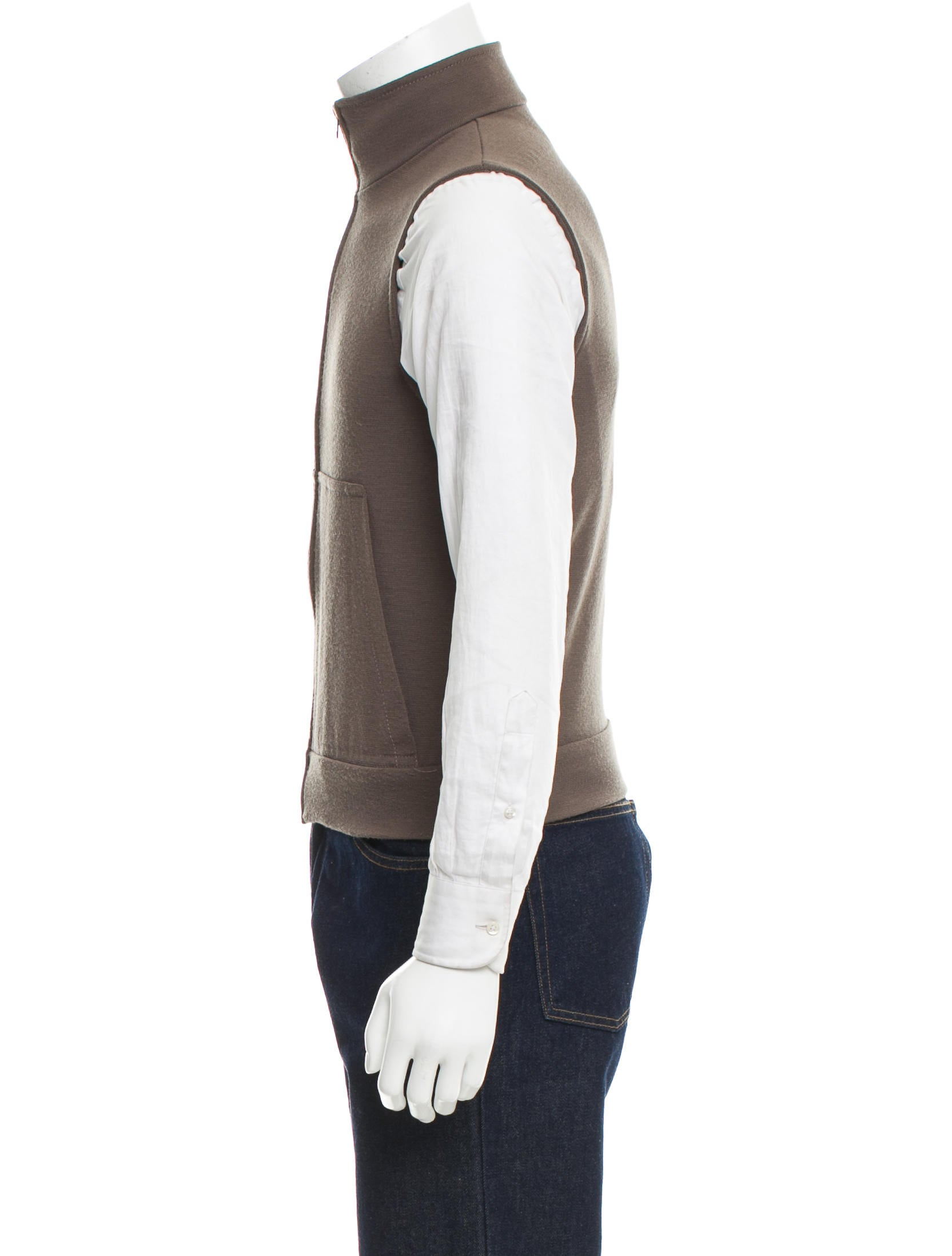 Zip Up Sweater Vest 75