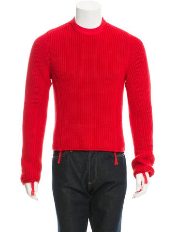 Maison Margiela Fringe-Trimmed Wool Sweater None