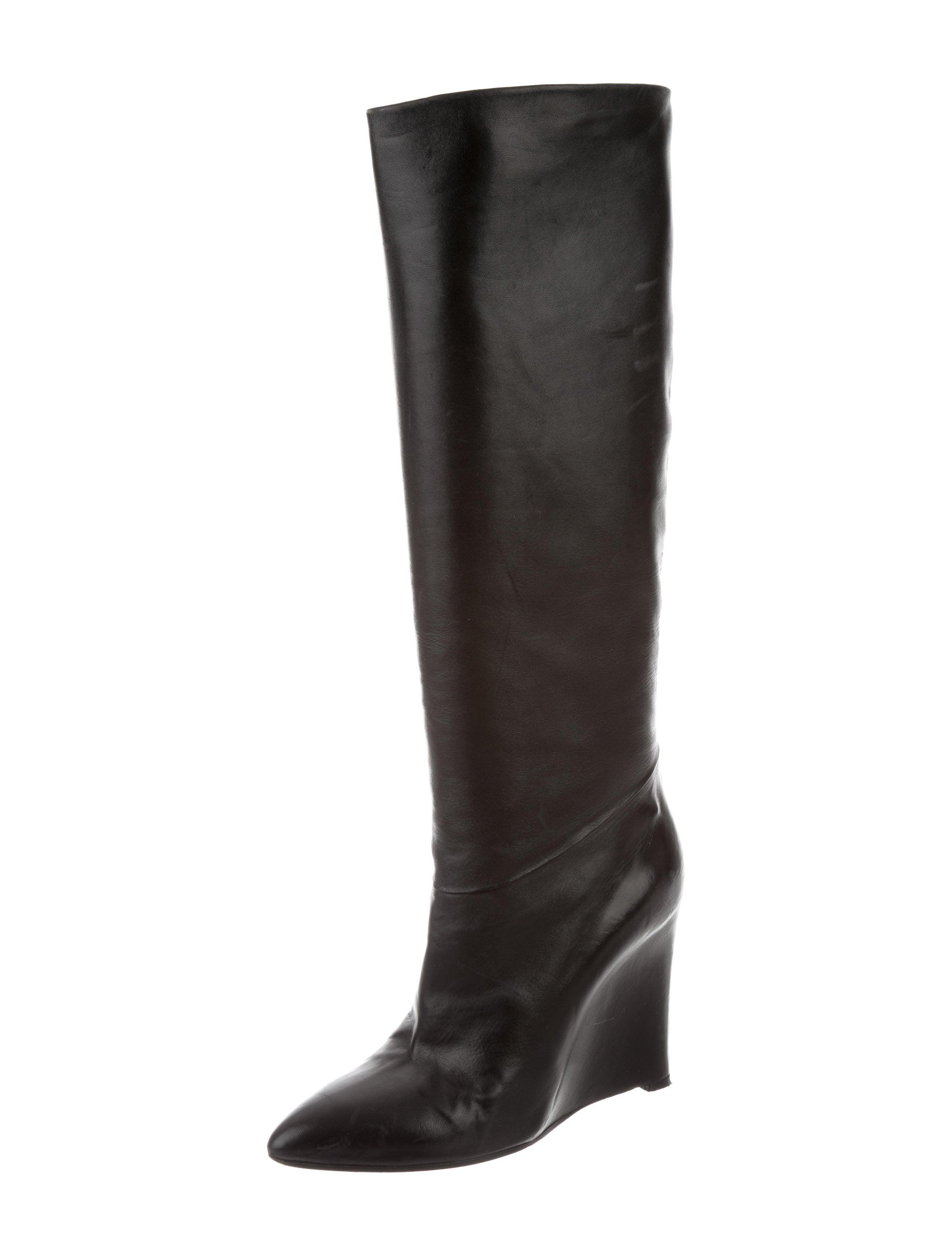 maison martin margiela leather wedge boots shoes