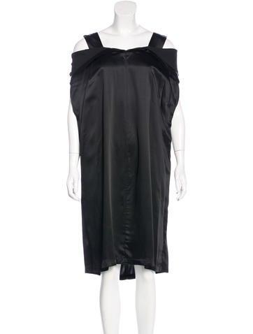 Maison Margiela Sleeveless Satin Dress None
