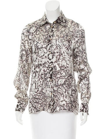 Maison Margiela Devoré Silk-Blend Top None