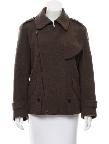 Maison Margiela Wool Zip-Up Jacket None