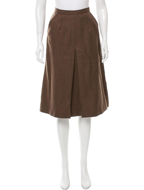 maison margiela wool a line skirt clothing mai29523