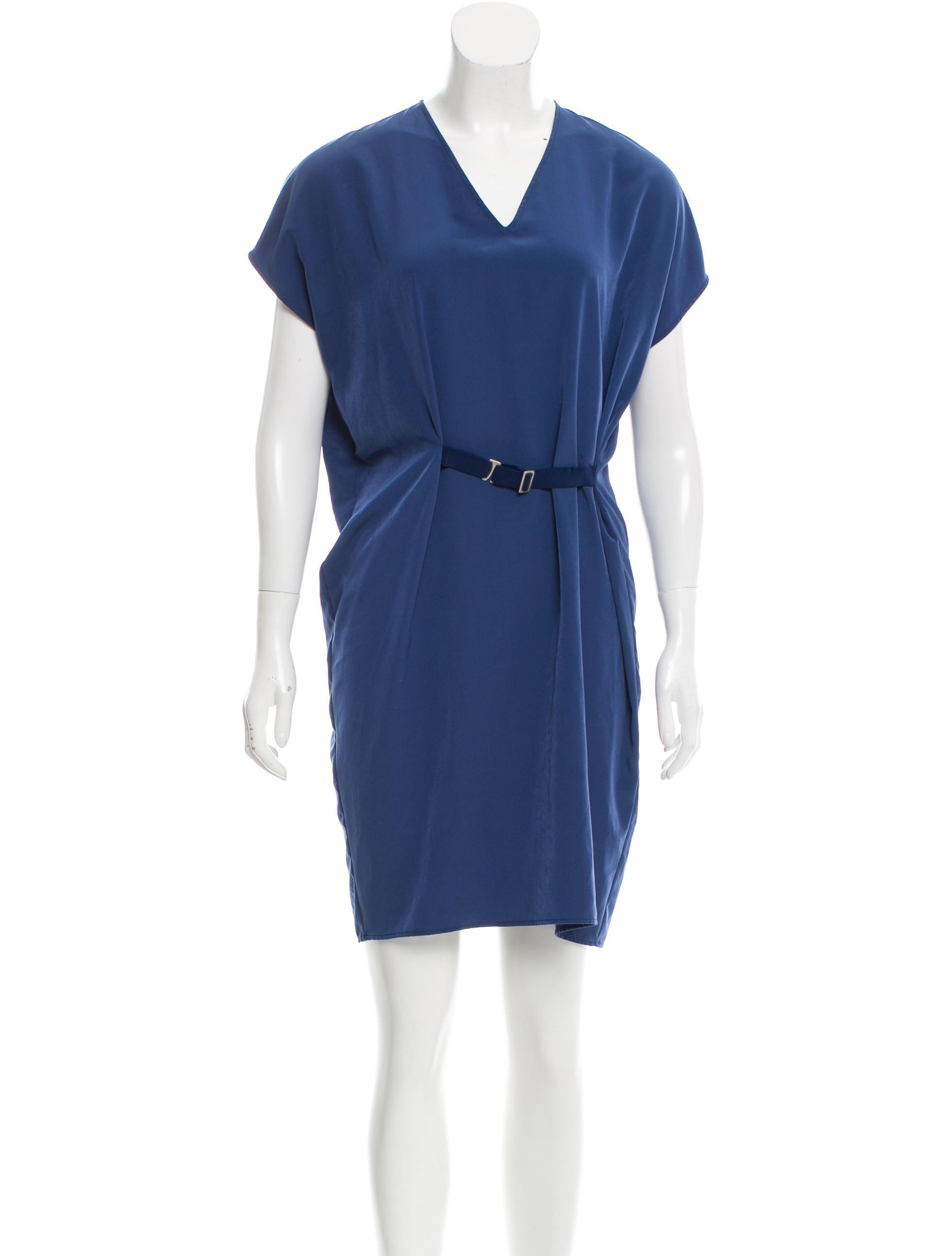 maison margiela sleeveless belted dress clothing