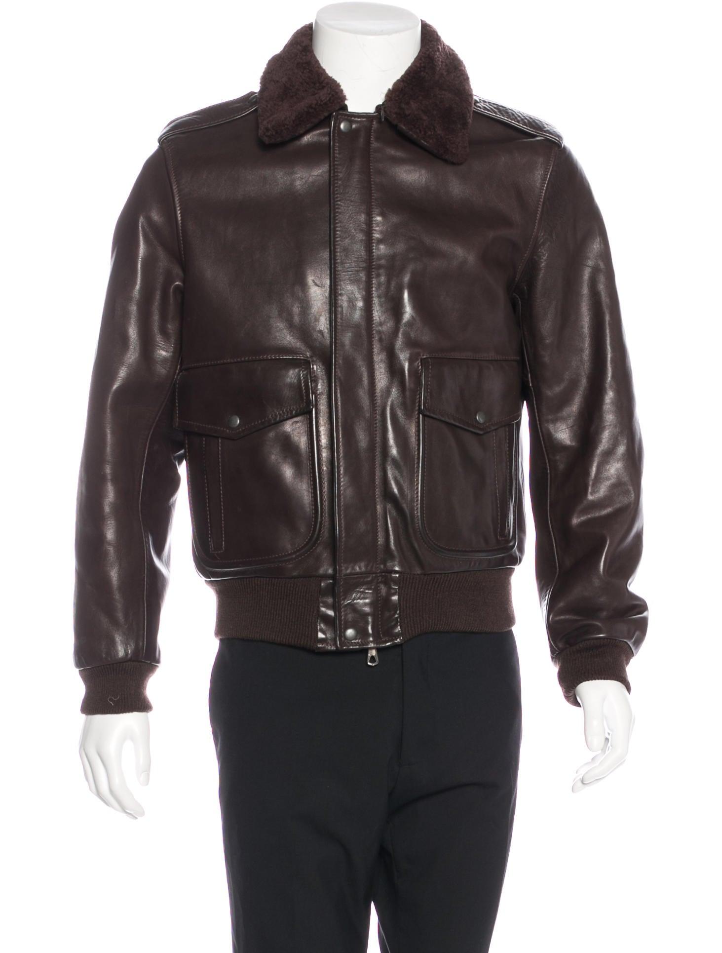 Maison Margiela Leather Flight Jacket - Clothing - MAI29697   The ...