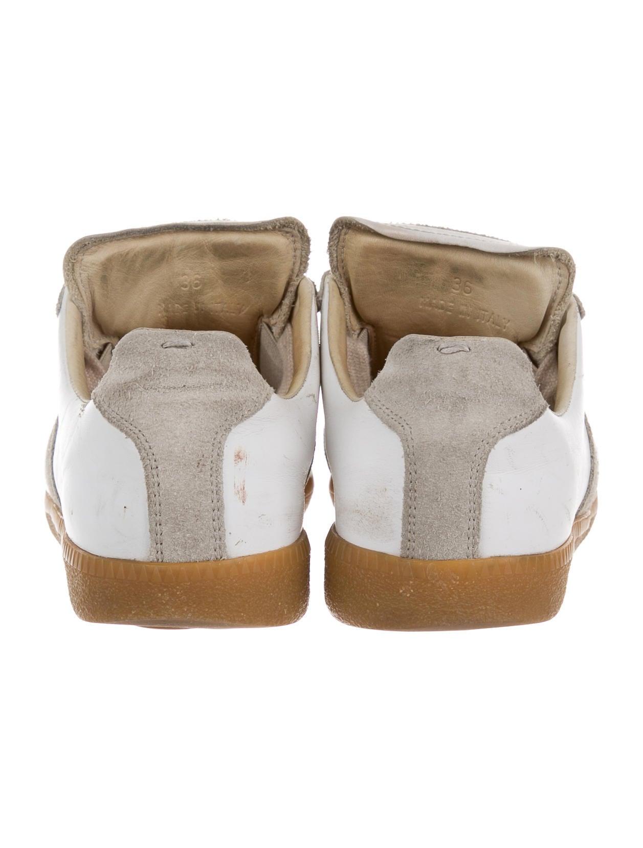 Maison martin margiela leather low top sneakers shoes for Maison martin margiela