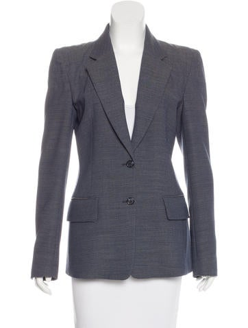 Maison Margiela Wool Notch-Lapel Blazer None
