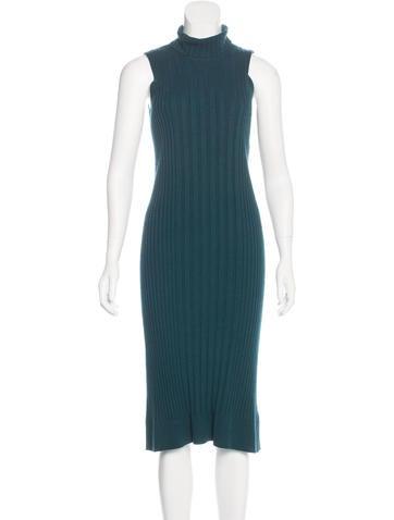Maison Margiela Wool-Blend Knit Dress None