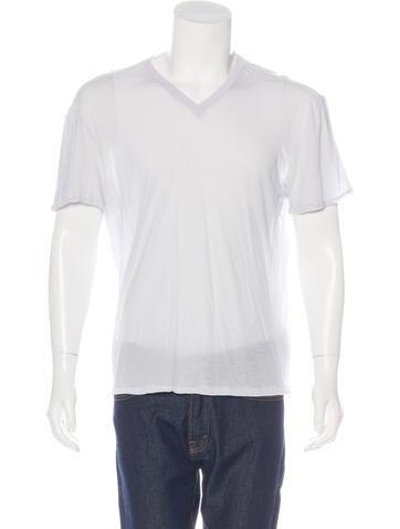 Maison Margiela Tissue V-Neck T-Shirt None