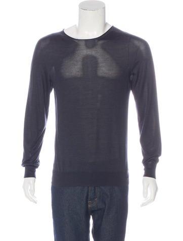 Maison Margiela Silk Scoop Neck Sweater None