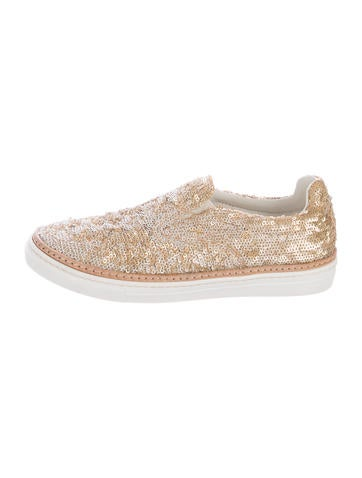 maison margiela sequin slip on sneakers shoes mai30261