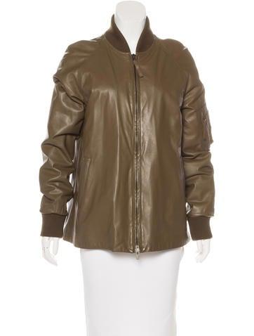 Maison Margiela Leather Bomber Jacket None