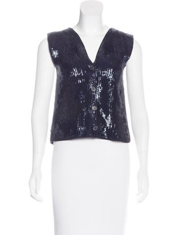 Maison Margiela Wool Sequined Sweater None