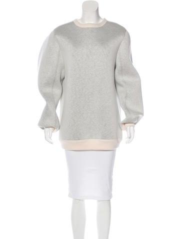 Maison Margiela Oversize Neoprene Sweatshirt None