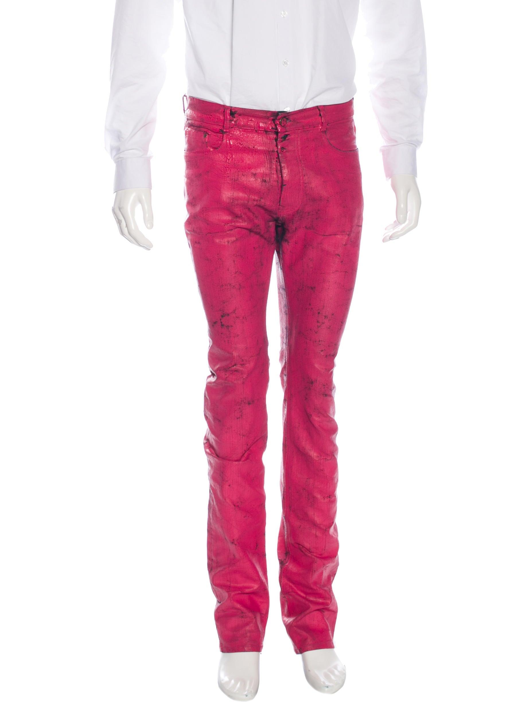 Maison margiela distressed painted jeans clothing for 10 moulmein rise la maison