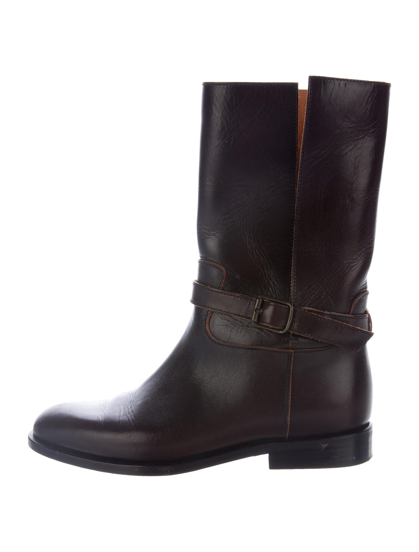 maison margiela leather mid calf boots shoes mai30500