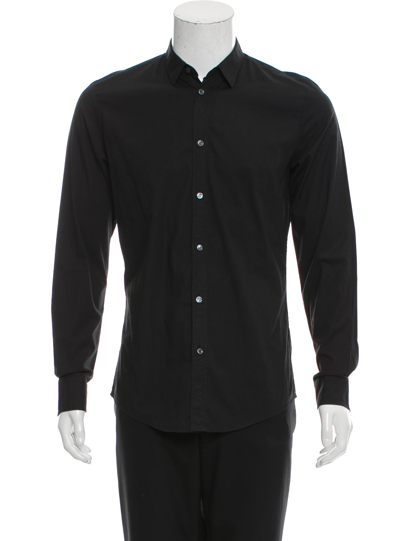 Maison margiela spread collar button up shirt clothing for Men s spread collar shirts