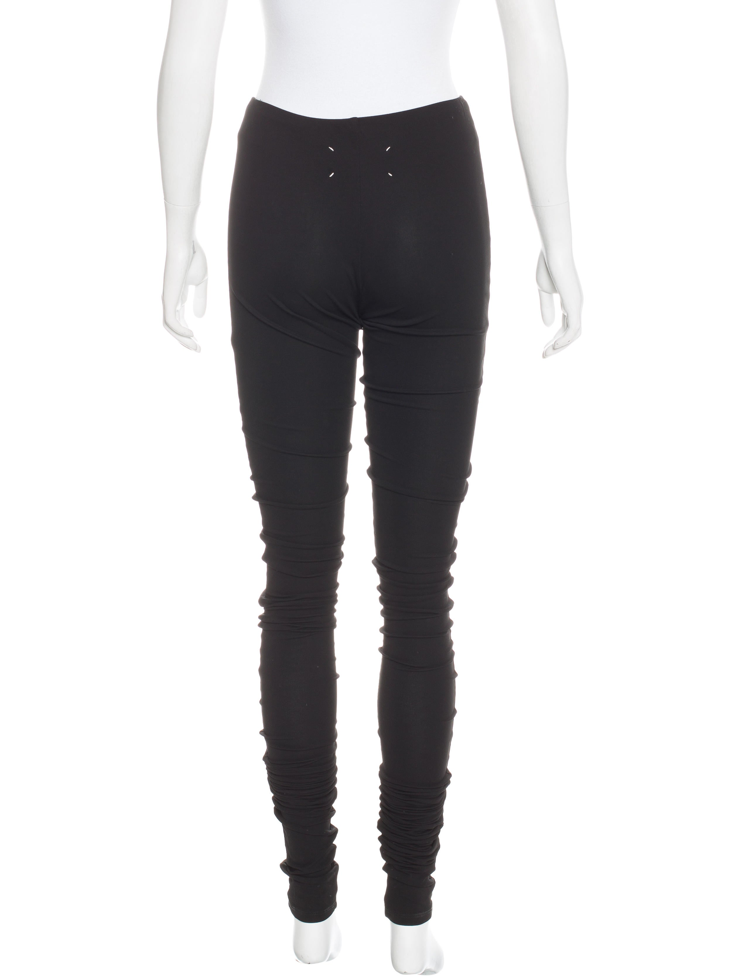 Maison margiela mid rise exaggerated leggings clothing for 10 moulmein rise la maison