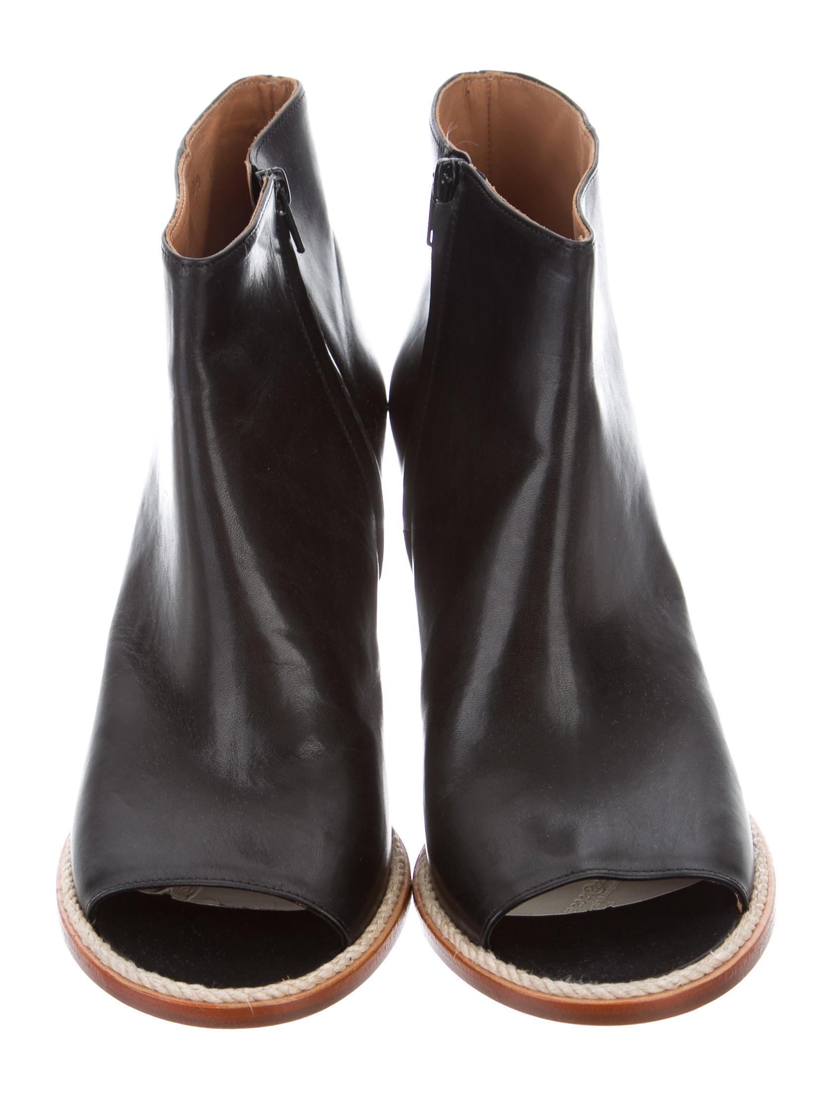 maison margiela peep toe wedge booties shoes mai30680