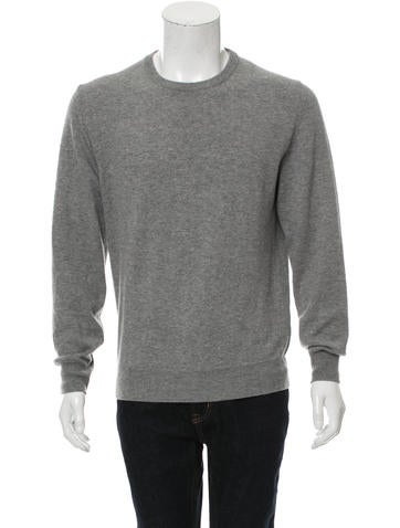 Maison Margiela Wool Leather-Trimmed Sweater None