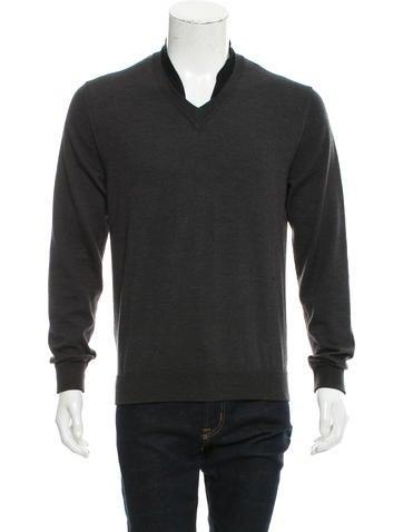 Maison Margiela Wool V-Neck Sweater None