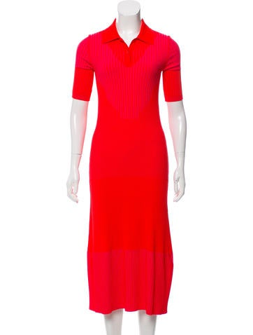 Maison Margiela Rib Knit Midi Dress None