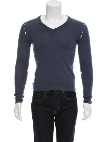 Maison Margiela V-Neck Cutout Sweater None