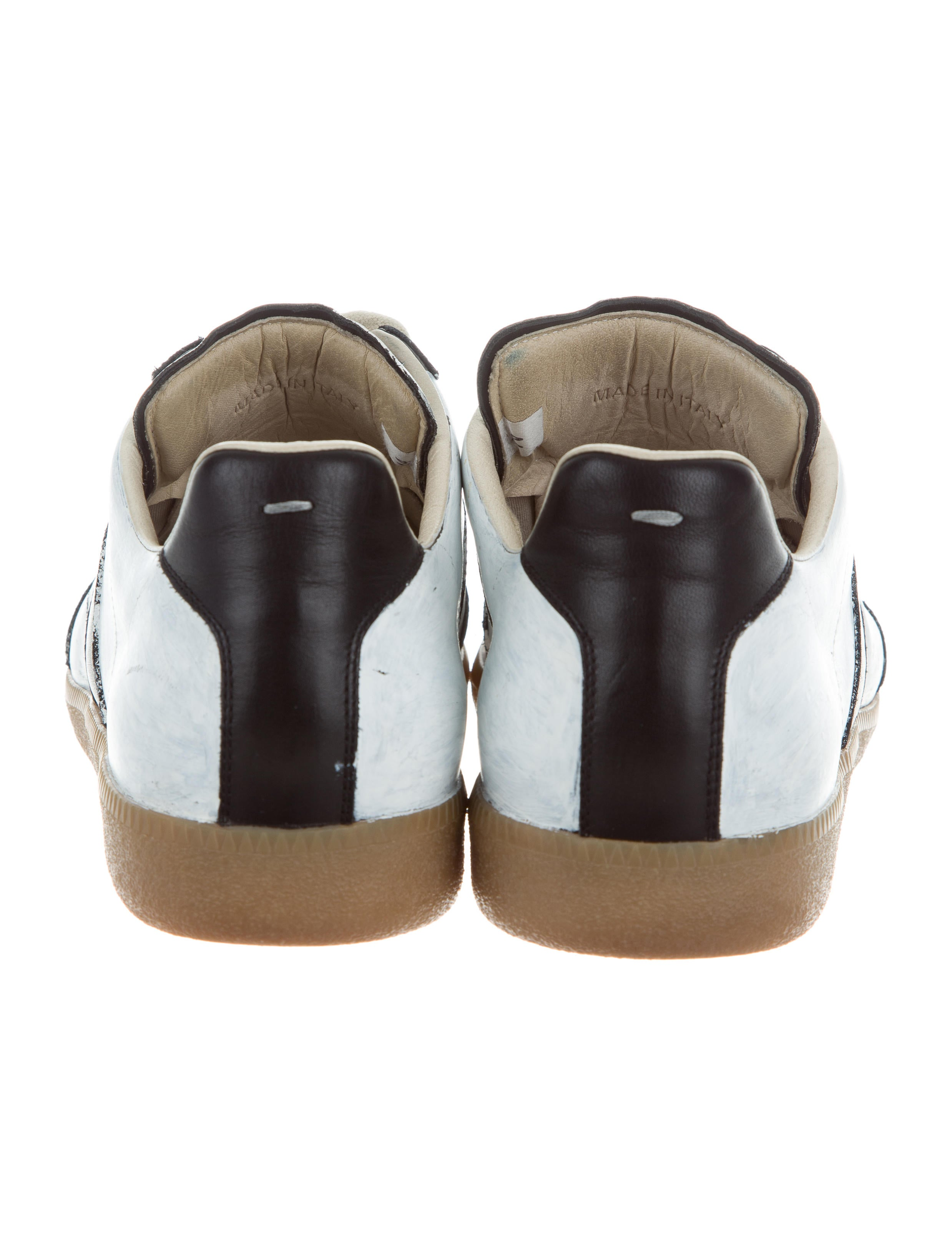 Maison margiela leather replica sneakers shoes for Replica maison martin margiela