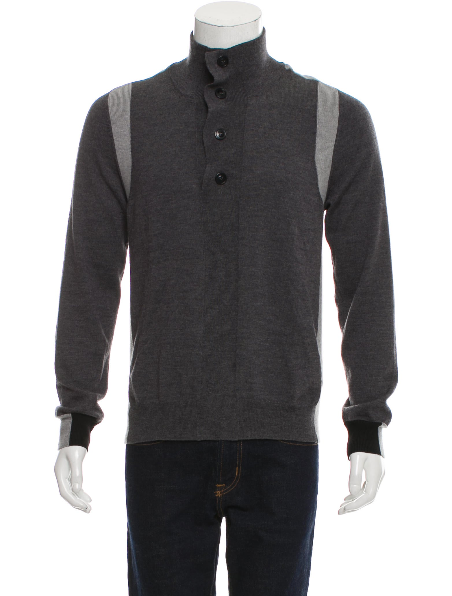 Maison Margiela Wool Half-Button Sweater - Clothing - MAI30860 | The RealReal