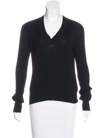 Maison Margiela Wool Rib Knit Sweater None