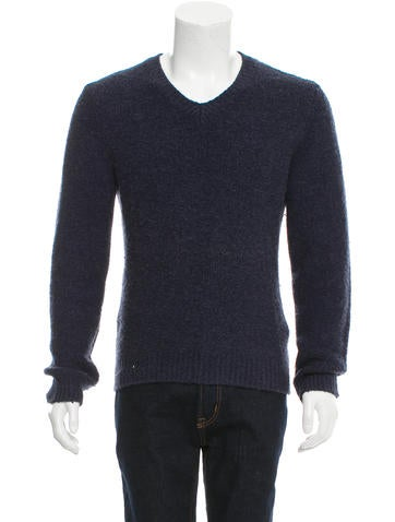 Maison Margiela V-Neck Rib Knit-Trimmed Sweater None