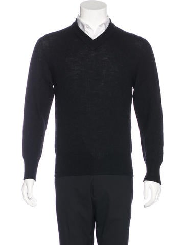 Maison Margiela Wool V-Neck Sweater None