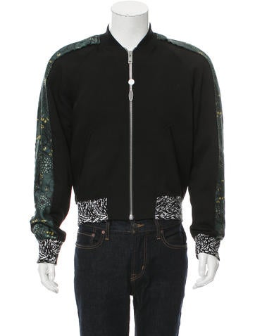 Maison Margiela Floral Print-Trimmed Lightweight Jacket None