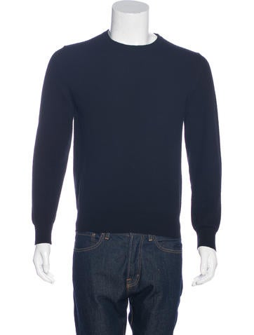 Maison Margiela Leather-Trimmed Wool Sweater None