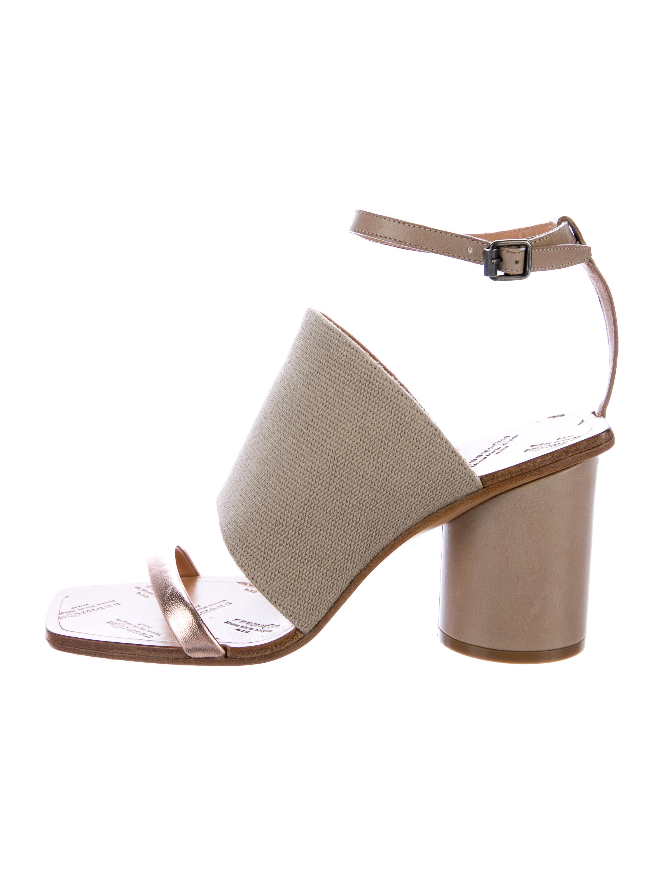 discount best store to get eastbay cheap price Maison Margiela Canvas Ankle Strap Sandals shop sale online discount in China Yh4k0DHg0