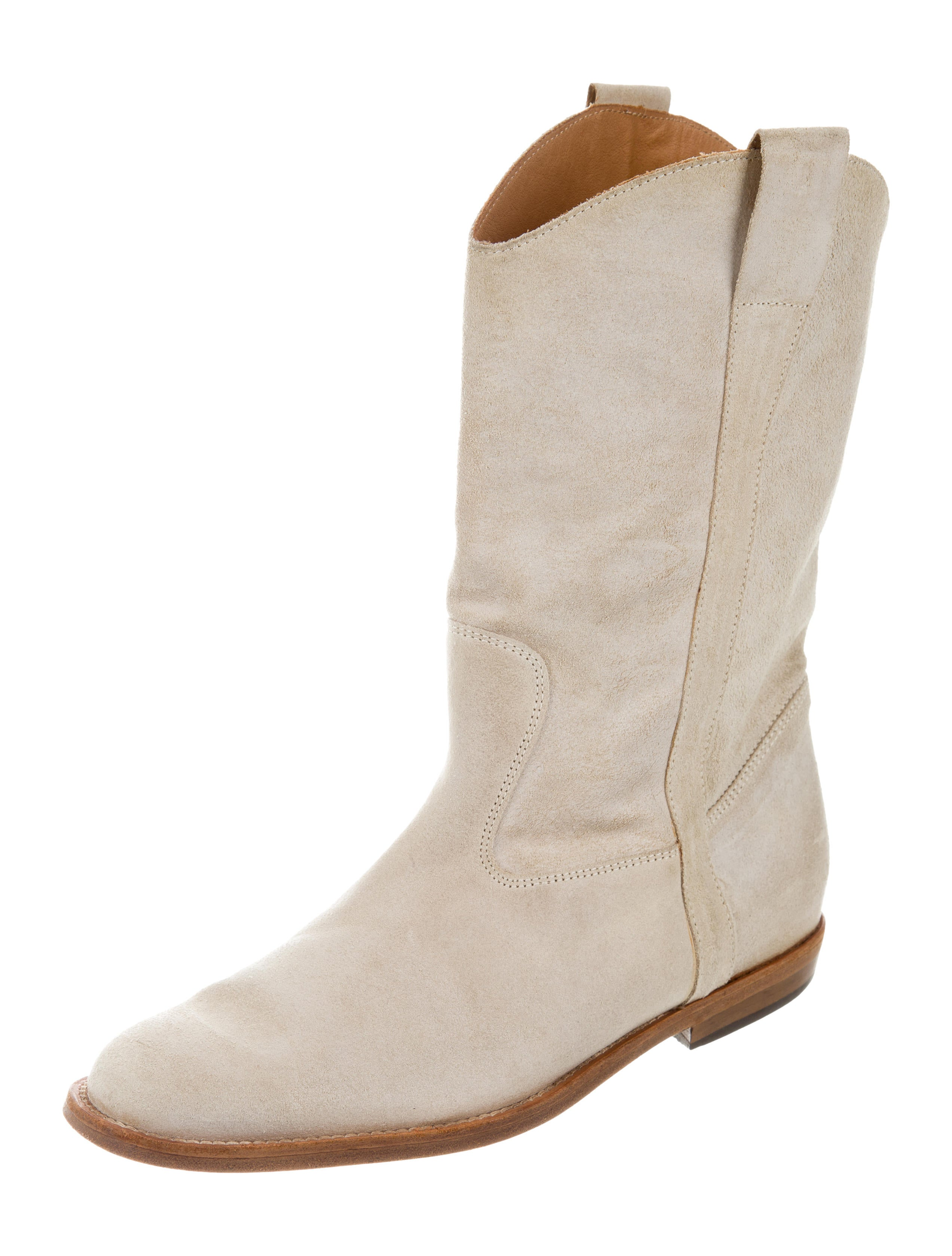 maison margiela suede toe boots shoes mai31136