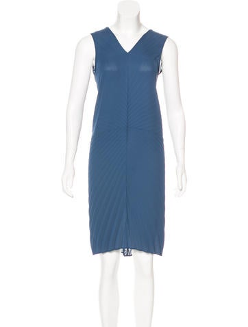 Maison Margiela Pleated Midi Dress None